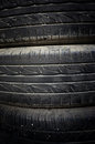 Closeup stack of car tires Royalty Free Stock Photography