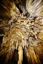 Closeup of stalactites and stalagmites from coiba mare cave apuseni mountains romania Stock Images