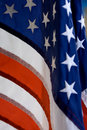 Closeup of the stars and stripes flag Royalty Free Stock Photo