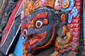 Closeup of statue of hindu deity Bhairab Royalty Free Stock Photography