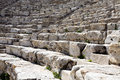 Closeup of steps of ancient Greek amphitheatre Royalty Free Stock Photo