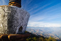 Closeup stupa himalayas background nepal Stock Images