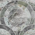 Closeup surface tile circle pattern by mix of color marble stone Royalty Free Stock Photo
