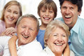 Closeup of a sweet family enjoying themselves Royalty Free Stock Images