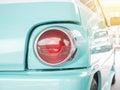 Closeup tail light lamp vintage classic car Royalty Free Stock Photo