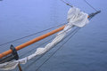 Closeup of a tall ship sailing vessel bow Royalty Free Stock Photo