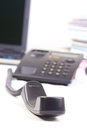 Closeup of telephone handle. Stock Image