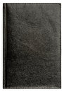 Closeup of texture leather notebook with stitching along edge Royalty Free Stock Photo