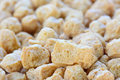 Closeup of textured vegetable protein soy optional protien selective focus with blur background Stock Images