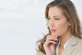 Closeup of a thoughtful businesswoman looking away Royalty Free Stock Photography