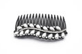 Closeup to Dusty Old Used Decorated Hair Comb Clip, Isolated Royalty Free Stock Photo