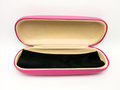 Closeup to Opened Shocking Pink Glasses Case Box, Royalty Free Stock Photo