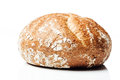 Closeup to wholegrain wheat bread roll on white background side shot wholemeal or isolated Stock Photos