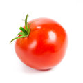 Closeup of tomatoes on the vine isolated on white Royalty Free Stock Photos