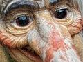 Closeup troll face norwegian character statue Royalty Free Stock Photo