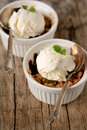 Closeup of two berry cobblers Royalty Free Stock Photo