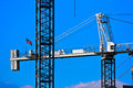 Closeup of two Cranes Royalty Free Stock Photo