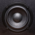 Closeup view of black bass speaker extra large Stock Images