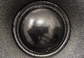 Closeup view of black tweeter speaker Royalty Free Stock Photo