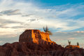 Closeup View of Desert Mesa Royalty Free Stock Image