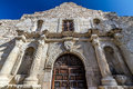 Closeup View of the Entrance to the Famous Alamo, San Antonio, Texas. Royalty Free Stock Photography