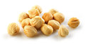 Closeup view of hazelnuts over white background Royalty Free Stock Photo