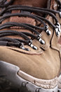 Closeup view hiking boot Stock Images
