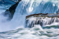 Closeup view of niagara falls compressed using timed exposure Stock Photography
