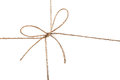 Closeup view of string knot over white background Royalty Free Stock Photography
