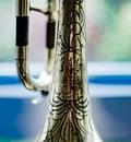 Closeup view on a trumpet detail