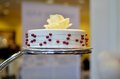 Closeup wihite wedding cake Royalty Free Stock Photography