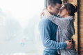 Closeup of young couple in love hugging Royalty Free Stock Photo