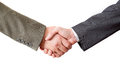 Closing the deal two man s hands Royalty Free Stock Photos