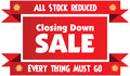 Closing down sale label Royalty Free Stock Photo
