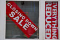 Closing down sale sign Royalty Free Stock Photo