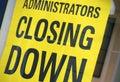 Closing down sign Royalty Free Stock Photo