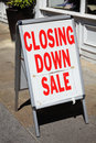 Closing down sign outside a shop during the recent recession Royalty Free Stock Photography