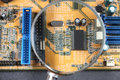 Closup delle componenti elettriche Fotografie Stock