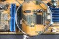Closup dos componentes elétricos Fotos de Stock