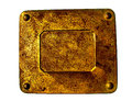 Closup of the old rusty metal plate can be used for banner Royalty Free Stock Photo