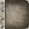 Cloth album cover with an iron rootlet image Royalty Free Stock Photos