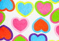 Cloth background heart with fabric texture Stock Image