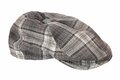 It is a cloth cap checkered Stock Photo