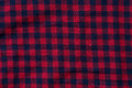 Cloth checkered texture with square blue and red stripes Royalty Free Stock Photo