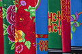 Cloth with chinese design Royalty Free Stock Image