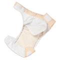 Cloth diaper opened isolated on white background Royalty Free Stock Photography