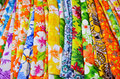 Cloth fabric flower pattern on Royalty Free Stock Image