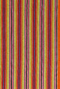 Cloth handmade with colorful stripes Stock Image