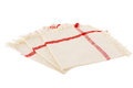 Cloth napkins three on white background Stock Photo