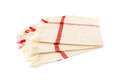 Cloth napkins three on white background Royalty Free Stock Photo